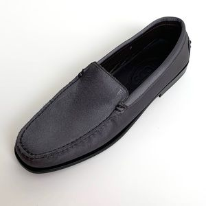 TOD'S Silk Gray Gommini Driving Loafers